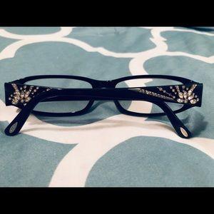 Authentic Bvlgari Rhinestone Starburst Glasses